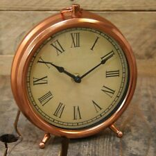 Roman Numeral Pocket Watch Style Copper Mantlepiece Clock