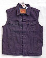 LEVIS Vest Sleeveless Jean Jacket Cotton Denim Trucker Eggplant Purple Men's L