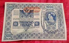 BANCONOTA 1000 TAUSEND KRONEN AUSTRO-UNGARICO-1902
