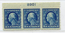 Us sc 504 Mnh Og plate # 8901 imprint strip of 3