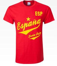 New Espana Spain Furia Roja Banner Adult Large Futbol Iniesta Silva T-shirt