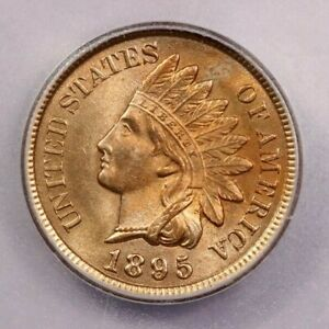 1895-P 1895 Indian Head Cent ICG MS64 RD