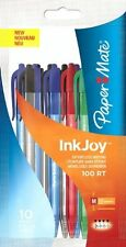 Paper Mate Inkjoy 100 Retractable Ballpoint Pens -  Coloured Pens (Pack of 10)