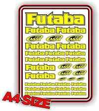FUTABA RC STICKER SET DECAL HELI AIRCRAFT NITRO ELECTRIC CAR 1/10 YELLOW DRIFT