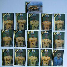 Equipe Complète PUERTAS MAVISA 1989, 16 Cartes Cyclisme