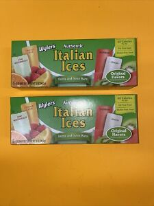 Wyler's Authentic Italian Ices Freeze And Serve Bars 2  Boxes, 12 Bars💯💯🔥🔥