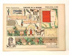 Imagerie D'Epinal No 1280 Fontaine de la Madone/Petite Construction paper model