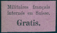 SCHWEIZ 1871, Portofreiheit franz. Militär, MiNr. PF 1, ungebraucht, Mi. 130,-