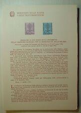 1962  ITALIA  Bollettino Postale N° 88  Malaria