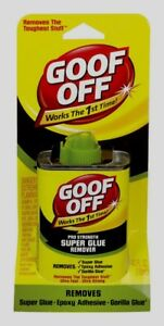 GOOF OFF Pro Adhesive / Spot Remover Super Glue Cleaner Fast Acting FG677 (4 oz)