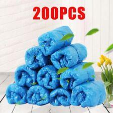 200Pcs Waterproof Medical Plastic Shoe Cover Non Slip Disposable Floor Protector