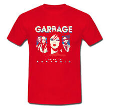 GARBAGE Concer America Band T Shirt  Size S-M-L-XL-2XL Red