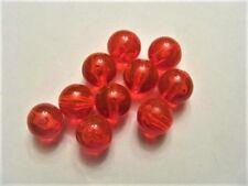 (100)pk 8mm round translucent Red beads
