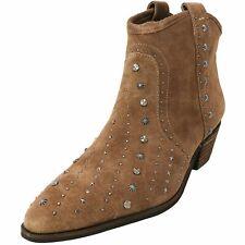 Sam Edelman Women's Brian Studded Western Boot Dark Taupe Suede Sz 8 NEW