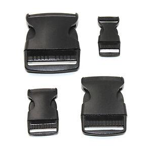 Hard Black Derlin Buckles Side Release Plastic Clip 20mm 25mm 38mm 50mm