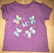 Baby girls lilac t-shirt for 0-3 months from Nutmeg - excellent condition