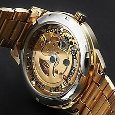 HOT Men's Luxury Automatic Mechanical Skeleton Gold Men's Wrist Watch