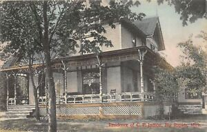 H63/ Big Rapids Michigan Postcard c1910 Home of C. P. Judson Residence 41