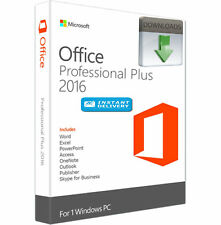 GENUINE MICROSOFT OFFICE 2016 Professional Plus LICENCE KEY Windows 7-8-10