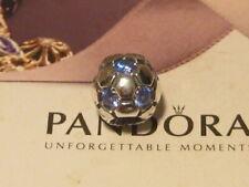 AUTHENTIC PANDORA BLUE CZ SOCCER BALL CHARM -  790444CZB