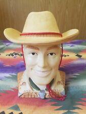 Roy Rogers Vandor Cookie Jar with Cowboy Hat String Western 1991 Rare?