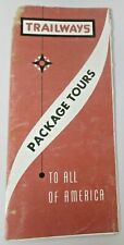 Vintage National Trailways Bus System Package Tours Price List Brochure Tourist