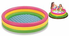 Giant Baby Pool Inflatable Paddling Pond 3 Ring Glow Swimming Kids Summer Garden