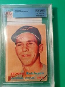 1957 Topps Brooks Robinson Rookie BVG Authentic