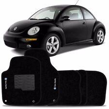 VW New Beetle INTERIOR CARPET FLOOR MAT LOGO 1998-2012 BLACK FloorLiner Mats