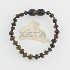Baltic Amber Child bracelet/anklet  green or dark green amber
