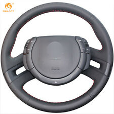 Black Genuine Leather Steering Wheel Cover Wrap for Citroen C4 Picasso 2007-2013