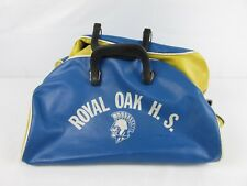 Vintage 1960s 1970s Vinyl Royal Oaks High School Gym Bag Royal Oaks California