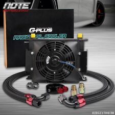 """30 Row Universal Engine Transmission 10 An Oil Cooler + 7"""" Electric Fan Kit"""