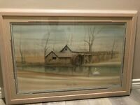 """P Buckley Moss """"Morning Visitor"""" Limited Edition Lithograph Print, Framed, Sign"""