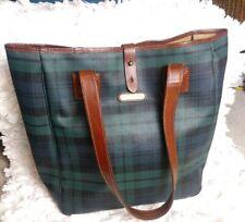 Polo ralph lauren VTG Blackwatch Tartan Plaid Carryall Shoulder Bag Unisex women