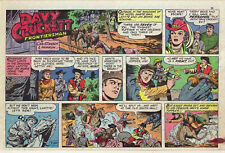 Davy Crockett Frontiersman by Herron - color Sunday comic page - March 24, 1957