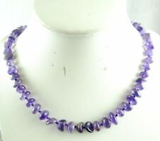 Natural amethyst beads Handmade Gemstone Jewellery Necklace charm Necklace K4