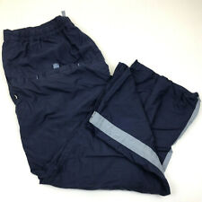 Vintage Nike Wide Leg Lined Blue Polyester Athletic Warmup Track Pants Mens Xl