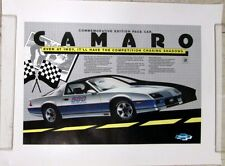1982 Chevrolet Camaro Z28 Indy 500 Pace Car Poster Commemorative Car of the Year