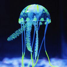 Aquarium Fish Tank Glowing Jelly Fish Artificial Simulation Ornament Decor Blue