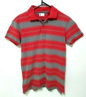 Levis Mens Shirt Size S Red Striped Short Sleeve Polo Collared 100% Cotton
