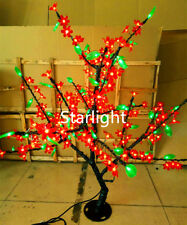 5ft Outdoor LED Artificial Tree Light Red Cherry Blossom Flower+Green Leaf IP44