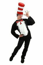 Dr Seuss Cat in The Hat Thing 1 Shirt & Blue Wig Costume Kit El40521