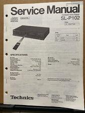 Original Service Manual for the Technics SL-P102 CD Player ~ Repair