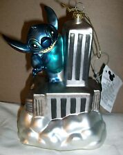 Lilo & STITCH Blown GLASS ORNAMENT KING KONG Empire State Building NYC New York