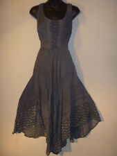 Dress Fits L XL 1X Plus Renaissance Christmas Gray Corset Lace Up Chest NWT 600