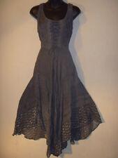 Dress Fits L XL 1X Plus Renaissance Christmas Gray Corset Lace Up Chest NWT 600