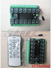 15CH/15 Channel 315MHZ RF Remote Control Transmitter Receiver Module 12V DC