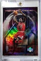 MICHAEL JORDAN 1998 UPPER DECK #MJ12 A HIGHER POWER, REFRACTOR LIKE INSERT CARD