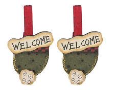 Darice Holiday Christmas Decorations- Arts & Crafts- Mini Wood Ornament Clothesp